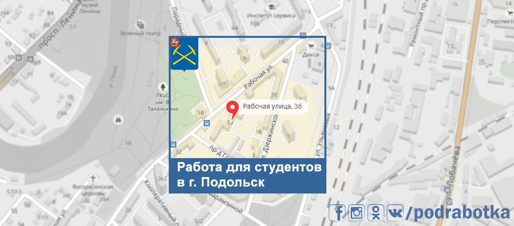 Карта Подольск